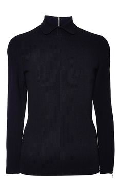 Ribbed Knitted Long Sleeve Top by Nina Ricci for Preorder on Moda Operandi