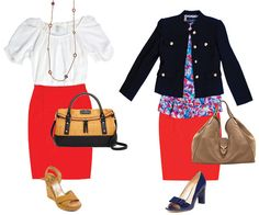 Transition a bright skirt from summer to fall