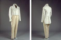 Lange bukser og jaket fra 1820's men's suit with long trousers and jacket + pattern