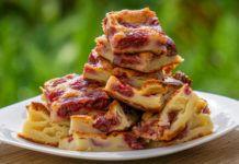 Meggyes tejpite, csak keverd össze a hozzávalókat, tedd be a sütőbe és 30 perc múlva kész a csodás sütemény! Kids Meals, Waffles, Ted, French Toast, Muffin, Breakfast, Morning Coffee, Waffle, Muffins