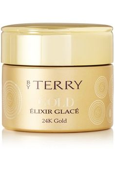 BY TERRY's 'Elixir Glacé' in 'Happy Glow' is enriched with gold micro-particles and prisms to illuminate and smooth the skin. Combining the liquidity of a gel and the lightness of a cream, it creates a corrective, light-catching sheen underneath makeup to enhance the contours of your face.