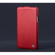 Newest Design for Samsung Galaxy Note 3 III N9000 HOCO Luxury Genuine DUKE Leather Flip Case - Red
