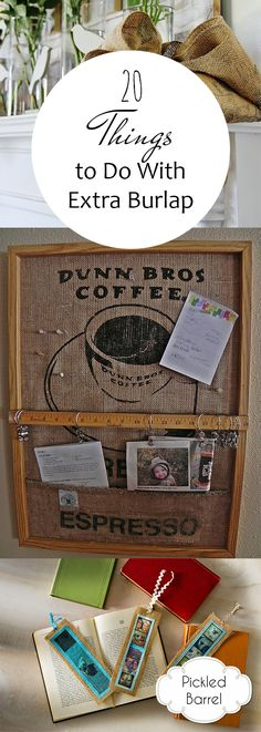 Things to Do With Old Burlap, Decorating With Burlap, How to Decorate With Burlap, Tips and Tricks for Crafting With Burlap, Crafting Tips and Tricks, Burlap Craft Projects, Popular Pin