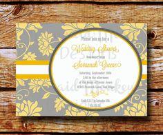 Bridal Shower Invitation  Wedding Shower by MermaidMonkeyDesigns, $12.50
