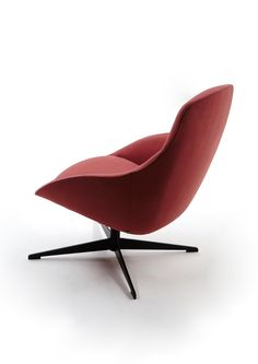 Marsala colour, black swivel Always Lounge chair