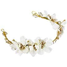 winomo Headband Hair Garland Wedding Bridesmaid Boho Floral Flower Festival (White) *** More info could be found at the image url. (This is an affiliate link and I receive a commission for the sales) Flower Festival, Festival Wedding, Hair Garland, Floral Garland, Crown Headband, Headband Hairstyles, Wedding Bridesmaids, Floral Flowers, Hair Band