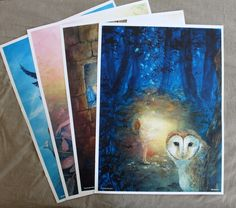 Brothers Grimm fairy tale postcards. Can be found @ http://www.treemagination.com