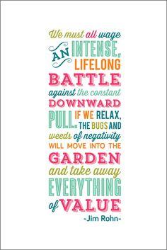 Battling Negativity - Jim Rohn Quote