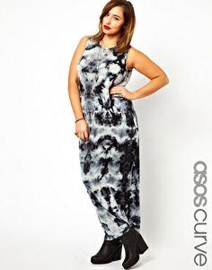 ASOS CURVE Maxi Dress In Tie Dye