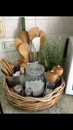 Kitchen counter organization #rvorganization