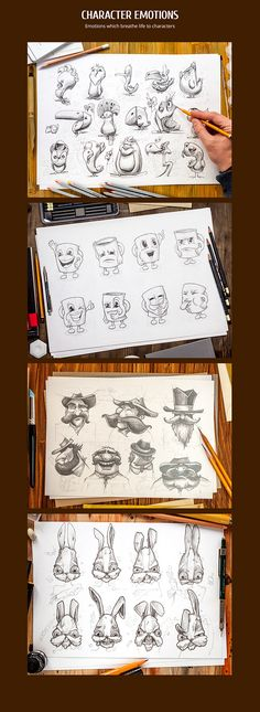 Handmade illustrations on Behance
