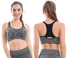 aa45e4f1a1af0 EMY Sports Bra 5 Pack Cami Space Dye Seamless Wirefree Stretchy Removable  Pads For Fitness Gym Yoga Running L 5 Pack -- Visit the image link more  details.