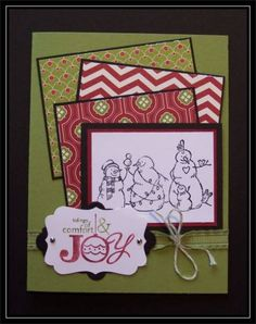 Tidings of Joy - Snowmen by TrishG - Cards and Paper Crafts at Splitcoaststampers