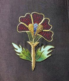Gold Work, Fabric Jewelry, Metal Working, Embroidery Patterns, 1 Piece, Poppies, Printing On Fabric, Needlework, Tapestry