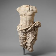 This statue and the similar work, 2003.407.9 were probably part of a statuary group portraying and honoring members of the Julio-Claudian dynasty that ruled Rome from the time of Augustus to that of Nero