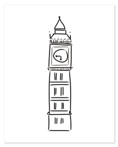 "Big Ben Letterpress Print, 16x20"" $40 