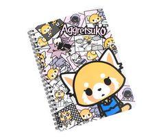 Aggretsuko Spiral Notebook: Grey