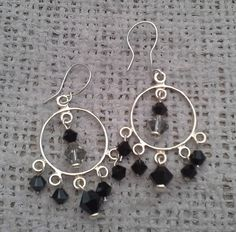 Sterling Silver and Swarovski Crystal Dangle Earring £20.00