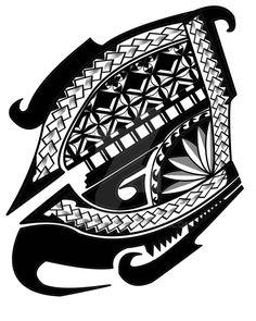 Polynesian shoulder tattoo