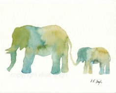 Elephant Silhouette Stencil | didn t have any stencils for these like with my other stenciled ...