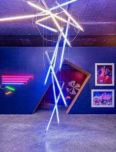 Hanging Falling Light Bulb Tubes - The Art Hunter Launches in Sydney