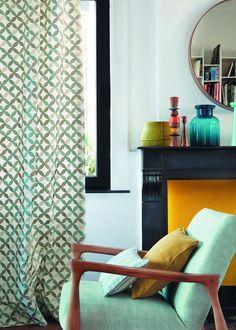 Rideau Physalis Collection Blooms Design - Camengo - Marie Claire Maison #pourchezmoi