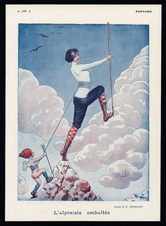 Gerbault 1916 ''L'Alpiniste Emballée'' Climber, Women In Sports