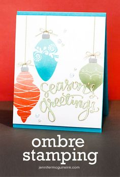 Ombre Stamping  by Jennifer McGuire using brand new Simon Says stamp Exclusives released for Stamptember 2014.
