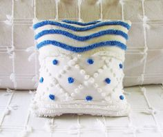 decorative pillow cover WATER'S EDGE blue by moreChenilleChateau, $49.00