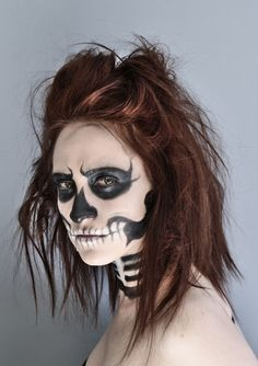 Llamakeup: Skeleton makeup