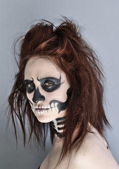 Llamakeup: Skeleton makeup