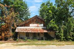Dakota GA Turner County Ghost Town Hobbs Grocery Triangle Vent Board and Batten Picture Image Photograph Copyright © Brian Brown Vanishing S...