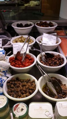 Delicious olives and other goodies at Romeo in Prati, Rome.  #Rome