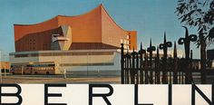 A vintage postcard series of Berlin - modern architecture.