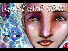 Pink Inspiration. Mixed Media Portrait - YouTube