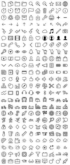 Free iOS 7 icons in vector by VisualPharm (source:. Art Projects For Teens, Easy Art Projects, Ios 7 Icons, Boat Icon, Doodle Art Journals, Writing Journals, Doodle Icon, Sketch Notes, Planner