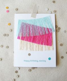 I want to make my own greeting cards.
