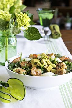 Healthy Pesto Shrimp