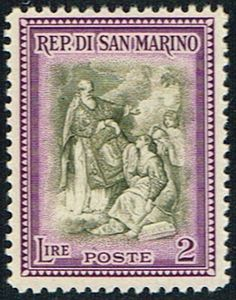 San Marino 261 Stamp  St Marinus Raising the Republic