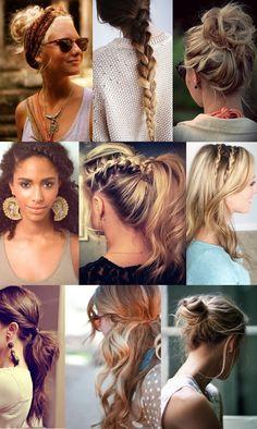 Penteados volta as aulas/Hairstyle #backtoschool - Amo Moda Blog