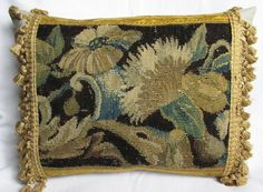 Antique French 18th Century Border Tapestry by FromAFrenchAttic