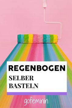Regenbogen basteln: Das Trend-DIY zum Nachmachen Tricks, Blog, Outdoor Blanket, Kindergarten, Tutorials, Beauty, Paper, Fashion, Rainbow Colors