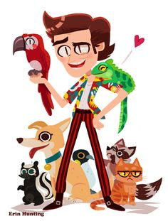 Ace Ventura by Erin Hunting Character Poses, Character Art, Ace Ventura Memes, Ace Ventura Pet Detective, Holly Pictures, Detective Party, Kid Movies, Children Movies, Hunting Art