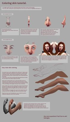 Skin coloring tutorial. by Suzanne-Helmigh on DeviantArt