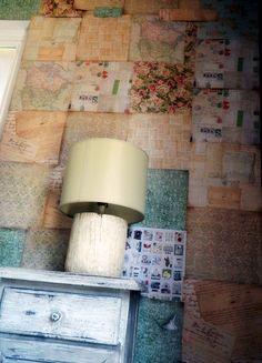 scrumptious scrapbook paper wall via home heart craft