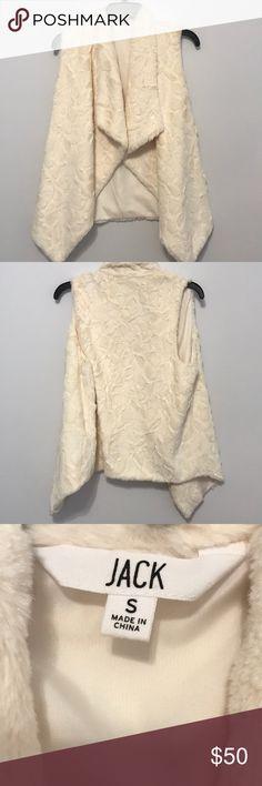 Jack (BB Dakota) vest Brand new without tags! Jack by BB Dakota cream vest!!!! Very soft and never has been worn...size small. FOR SALE ONLY Jack by BB Dakota Jackets & Coats Vests