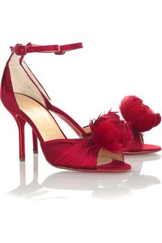 f3c45fc56cde Christian Louboutin - Rosazissimo feather shoes