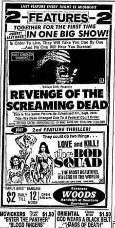 Revenge of the Screaming Dead / The Bod Squad