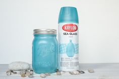 Im finally getting around to trying Krylon Sea Glass spray paint… Took me long enough, eh? Specially because they have an aqua shade! LOL. They do make quiet a few colors. I think its has a sea glass-frosted look. This post contains affiliate links. I think its a bit more blue than aqua but still …