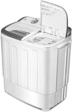 Safeplus Portable Washer and Spin Dryer,Compact Mini Twin Tub Versatile Washing Machine with 8 lbs Washing lbs Spin Dryer Load Cappacity Gravity Drain Pump and Drain Hose for apartments Portable Washer And Dryer, New Washer And Dryer, Compact Washing Machine, Spin Dryers, Drain Pump, Wall Mounted Vanity, Bottle Rack, Bed In A Bag, Rustic Chandelier